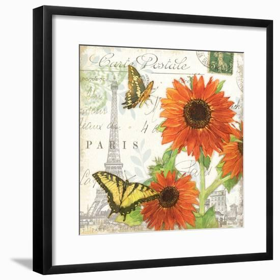 Carte Postale Sunflowers I-Julie Paton-Framed Art Print