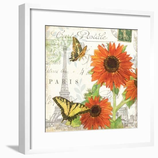Carte Postale Sunflowers I-Julie Paton-Framed Art Print