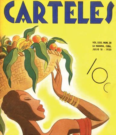 Carteles, Retro Cuban Magazine, Fruit Basket
