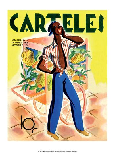 Carteles, Retro Cuban Magazine, Fruit Seller--Art Print
