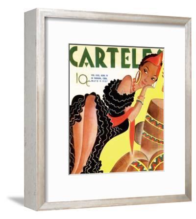 Carteles, Retro Cuban Magazine, Local Havana Beauty III--Framed Art Print