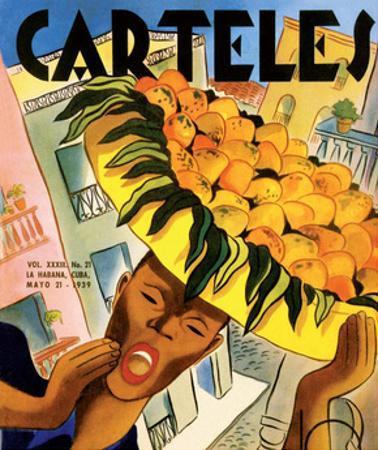 Carteles, Retro Cuban Magazine, Orange Seller