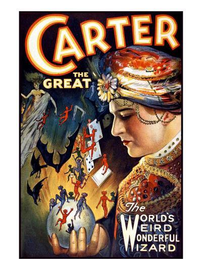 Carter the Great Magician Wizard--Giclee Print