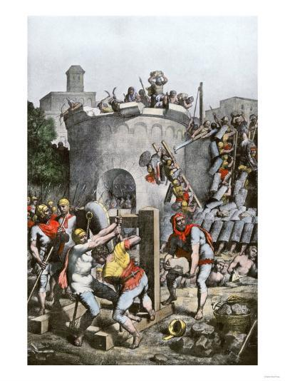 Carthage Destroyed by the Roman Army in the Third Punic War, 146 Bc--Giclee Print