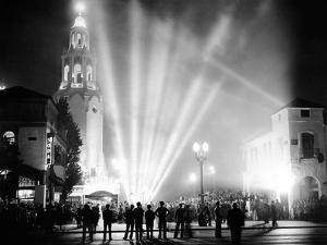 Carthay Circle Theatre During a Dramatically Lit Hollywood Premier