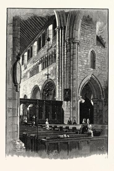 Cartmel Church, View across the Nave--Giclee Print