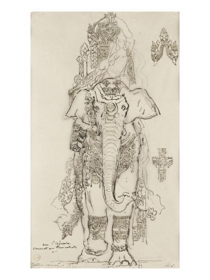 Carton 31. Etude pour la Péri-Gustave Moreau-Giclee Print