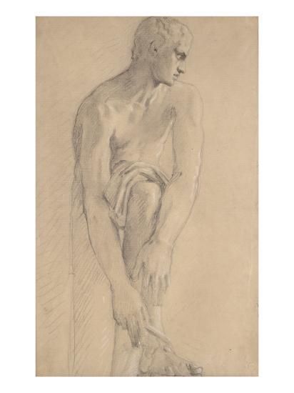 Carton 80. Etude de sculpture antique-Gustave Moreau-Giclee Print