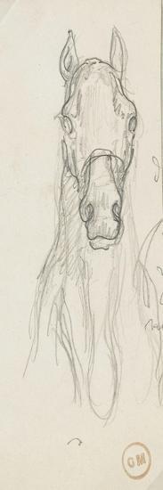 Carton 84. Etude-Gustave Moreau-Giclee Print