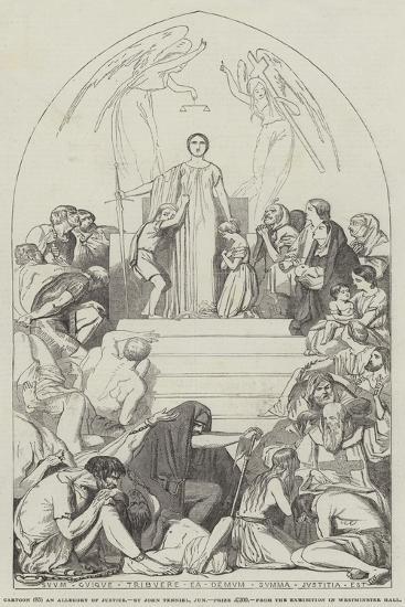 Cartoon, an Allegory of Justice-John Tenniel-Giclee Print