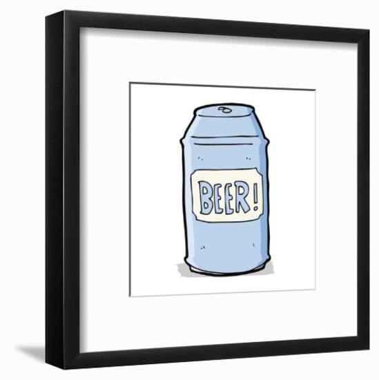 Cartoon Beer Can-lineartestpilot-Framed Art Print
