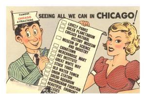 Cartoon Checklist of Sites, Chicago, Illinois
