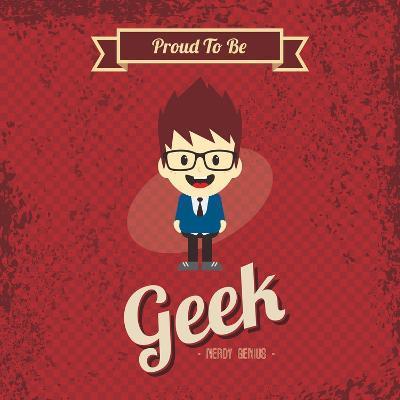 Cartoon Geek Character-vector1st-Art Print