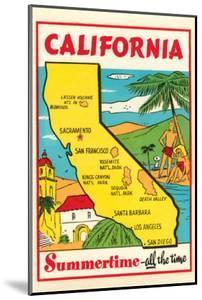 Cartoon Map of California
