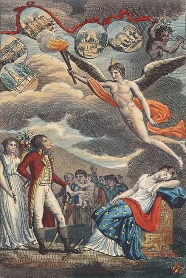 Cartoon of the Coup D'Etat of the 18 Brumaire, November 9th, 1799--Giclee Print