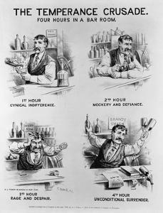 Cartoon of the Temperance Crusade: Four Hours in a Bar Room