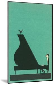 Cartoon pianist