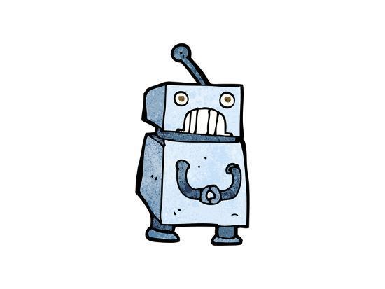 Cartoon Robot-lineartestpilot-Art Print
