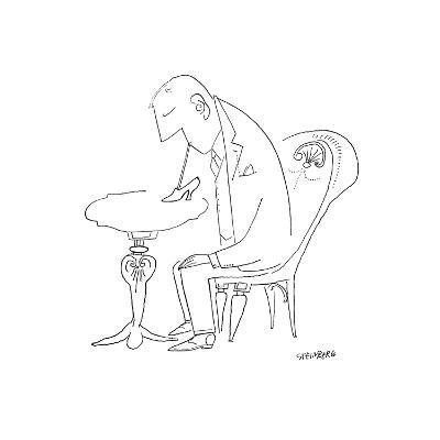 Cartoon-Saul Steinberg-Premium Giclee Print