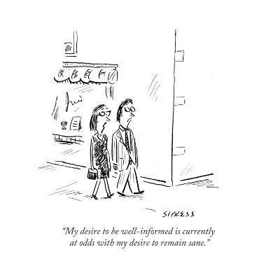 Cartoon-David Sipress-Premium Giclee Print