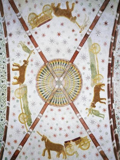 Carts in Circle, Basilica of San Bassiano, Lodi Vecchio, Lombardy, Italy--Giclee Print