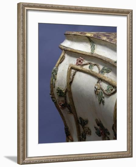 Carved and Painted Wooden Chest of Drawers, Ca 1760, Made in Venice, Italy, Detail--Framed Giclee Print