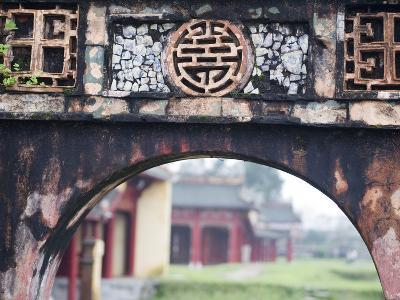 Carved Arch Inside the Imperial Palace, in Hue, Vietnam-David H^ Wells-Photographic Print