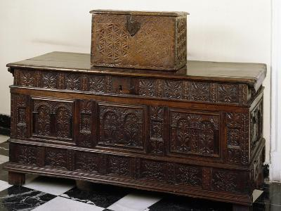 Carved Chest and Trunk, Spain--Giclee Print