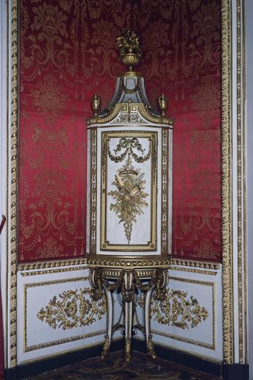 Carved Corner Cupboard-Giuseppe Maria Bonzanigo-Giclee Print