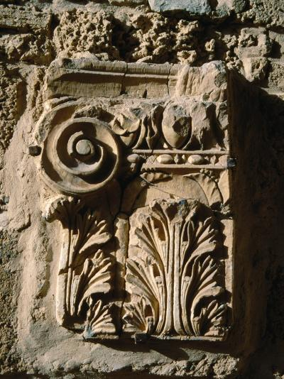 Carved Detail at Antonine Baths, Carthage, L'Ariana, Tunisia-Jane Sweeney-Photographic Print