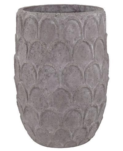 Carved Lotus Petal Pot - Tall--Home Accessories
