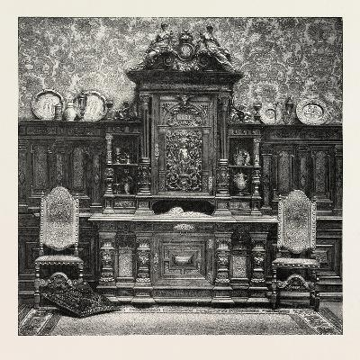 Carved Sideboard for a Dining Room, 1882--Giclee Print