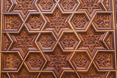 Carved Star of David in the Door of the Holy Ark in the Neve Shalom Synagogue in Casablanca-Richard Nowitz-Photographic Print