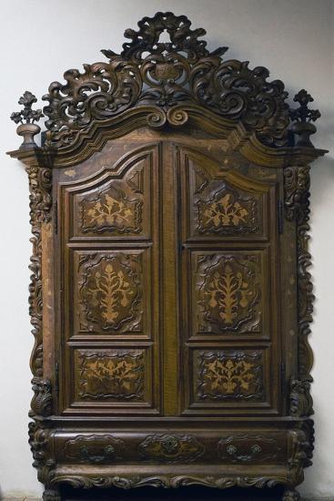 Carved Walnut Wardrobe, 1783, Girona Cabinetry School, Spain--Giclee Print