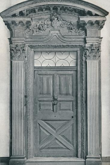'Carved Wood Doorway, Early Eighteenth Century', 1909-Unknown-Photographic Print