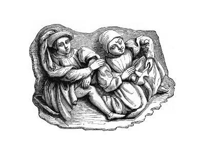 Carved Wood Relief, 15th Century--Giclee Print