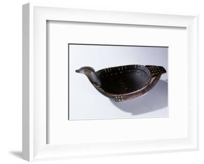 Carved wooden bowl, Eskimo, from Kodiak Island, Alaska-Werner Forman-Framed Photographic Print