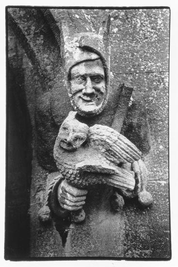 Carving of a Jester Holding an Owl, Toddington Manor, Gloucestershire-Simon Marsden-Giclee Print