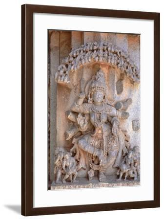 Carving of Dancing Goddess--Framed Photographic Print