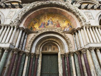 Carvings and Facade Mosaics on the Basilica San Marco, Venice, Italy-Dennis Flaherty-Photographic Print