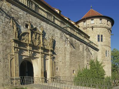 Carvings over the Entrance to Castle Hohentubingen at Tubingen in Baden Wurttemberg, Germany-Hans Peter Merten-Photographic Print