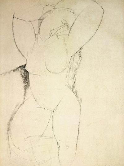 Caryatid, C.1913-14 (Pen and Ink on Paper)-Amedeo Modigliani-Giclee Print