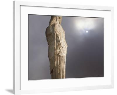 Caryatid from the Classical Era Adjacent to the Parthenon at the Acropolis, Athens, Greece-Nancy Noble Gardner-Framed Photographic Print