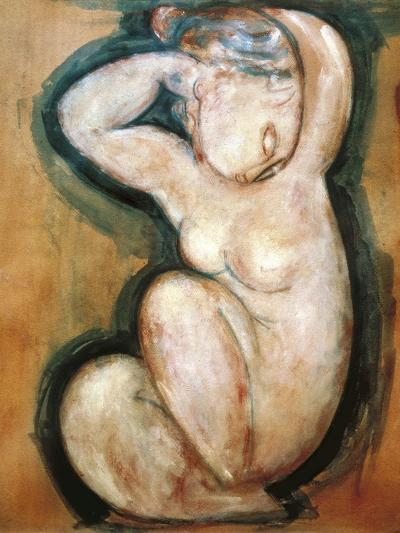 Caryatid-Amedeo Modigliani-Art Print