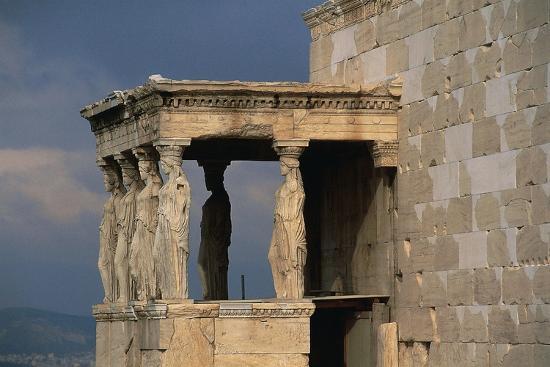 Caryatids Porch of the Erechtheion, Acropolis--Photographic Print