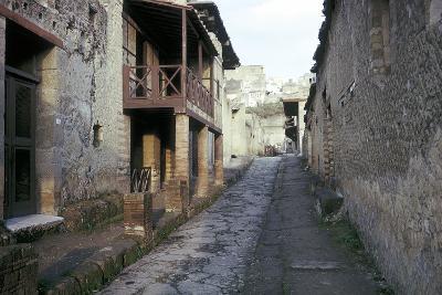 Casa a Graticcio, Herculaneum, Italy: Facade of the Roman House-CM Dixon-Photographic Print