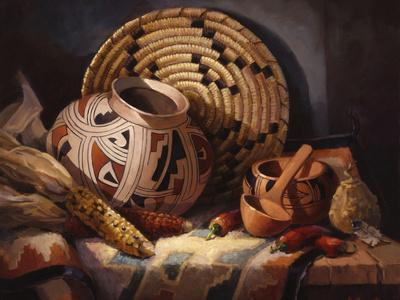 Casa Grande Pot-Maxine Johnston-Art Print
