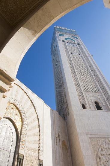 Casablanca, Morocco Exterior, Famous Hassan II Mosque-Bill Bachmann-Photographic Print