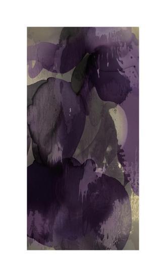 Cascade Amethyst Triptych I-Kristina Jett-Giclee Print