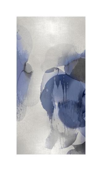 Cascade Indigo Triptych II-Kristina Jett-Giclee Print